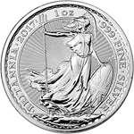 2017 UK Great Britain Silver Britannia 1 Oz Brilli