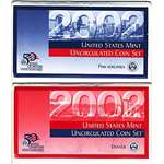 2002 P D US Mint Uncirculated Coin Mint Set Sealed