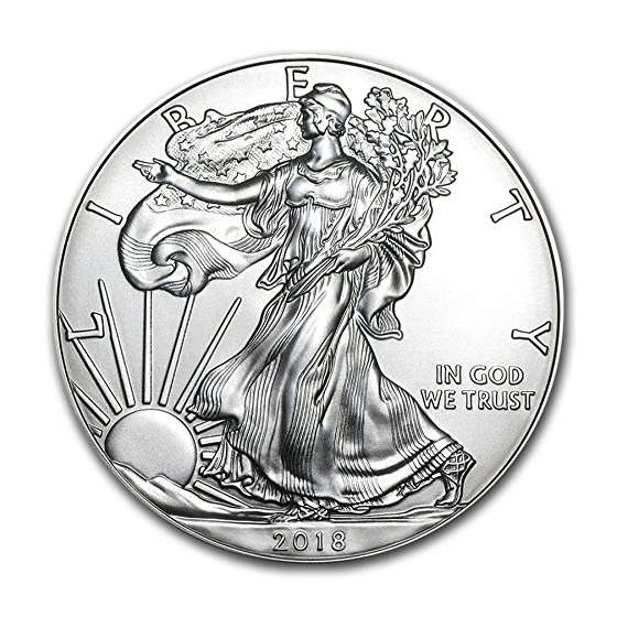 2018-1 Ounce American Silver Eagle Low Flat Rate S