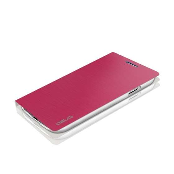 Brushed Pink Samsung Galaxy S4 Flip Cover Case B-3