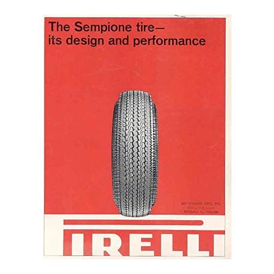 1965 Sempione Tire Sales Brochure