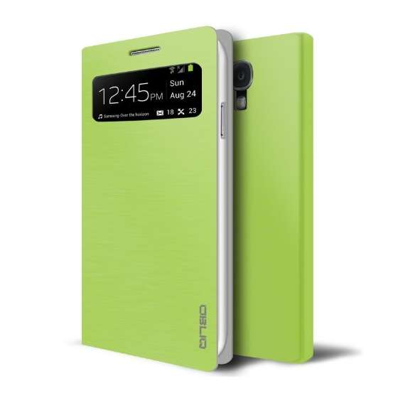 Brushed Lime Samsung Galaxy S4 View Flip Cover Cas