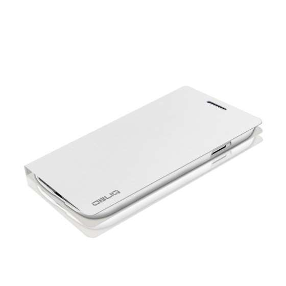 Brushed White Samsung Galaxy S4 Flip Cover Case-3