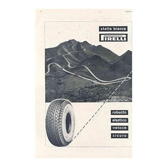 1951 Tire Ad Italy Sasbre