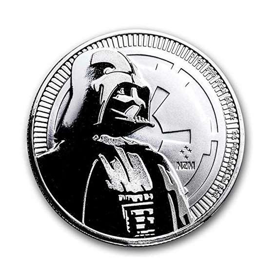 2017 NU 1 Oz Niue Silver Star Wars Darth Vader Coi
