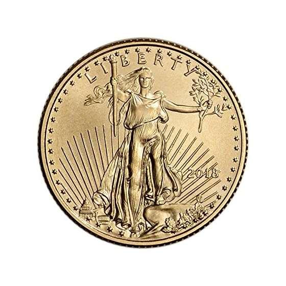 2018 American Gold Eagle 1 By 10 Oz 5 Brilliant Un